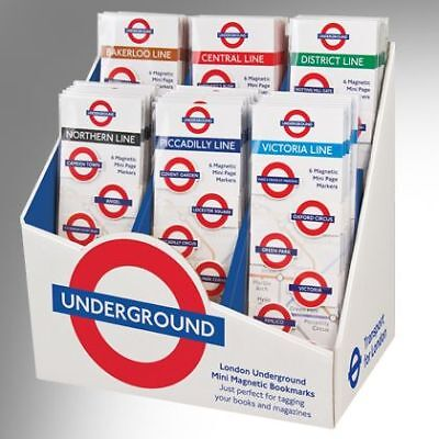 NEW! If London Underground Mini Magnetic Page Markers Bookmarks