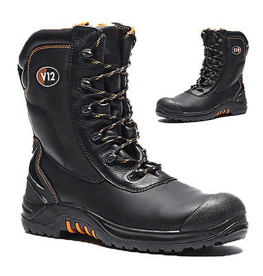 Mens Safety Rigger Boots Composite Toe Cap Leather Work Shoes