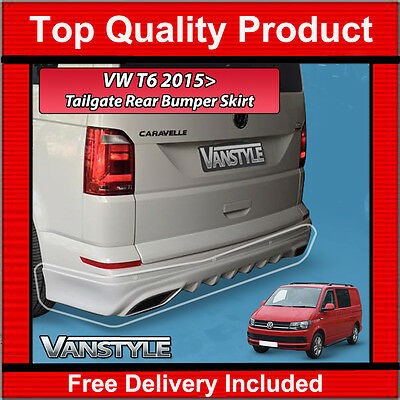 New Vw T6 2015+ Transporter Rear Grp Tailgate Bumper Skirt Diffuser Trim Valance
