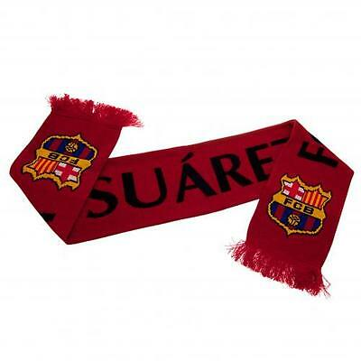 Official Licensed Football Product FC Barcelona Scarf Luis Suarez 9 Crest Gift