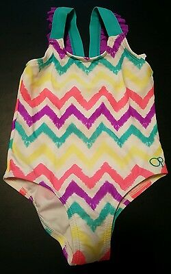 OP Baby Toddler Girl 1 Piece Swimsuit Bathing Suit  UPF 50+ 18M NWT