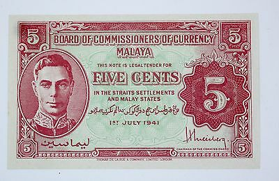 Malaysia - Five (5) Cents - 1941