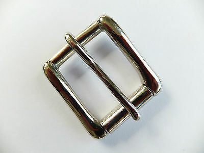 "N - NICKEL  [ 1"" - 25 mm ] WEST END SINGLE ROLLER BUCKLE Leather craft"