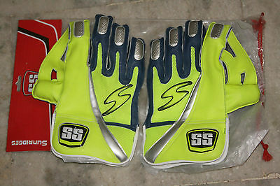 Ss Platino Cricket Wicket Keeping Gloves+Inner Gloves Men Size Free Ship