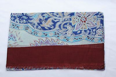 BATTISTI NAPOLI MULTI COLOR FLORAL DESIGN SCARF MODAL BLEND SCA30 NEW