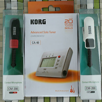 Korg CA40 tuner and CM200 Piezo Clip Mic ideal tuning pipe band tenor bass drums