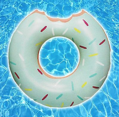Mint Green Inflatable Donut Pool Float Huge 4 Feet Ring Swimming Pools Water Toy