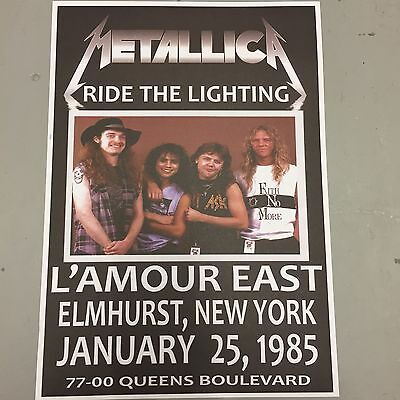 METALLICA - CONCERT POSTER ELMHURST NEW YORK 25th JANUARY 1985 (A3 SIZE)