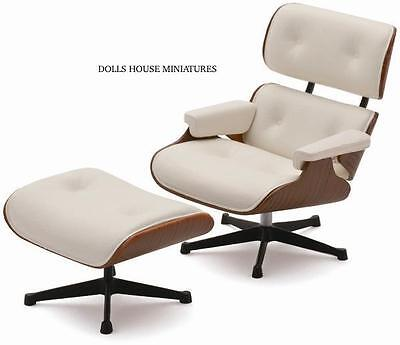 Eames Lounge Chair and Ottoman Limited Edition, Doll House Miniature 1.12 Scale