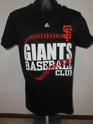 NEW San Francisco Giants MENS Size S Small Black Majestic Brand Shirt