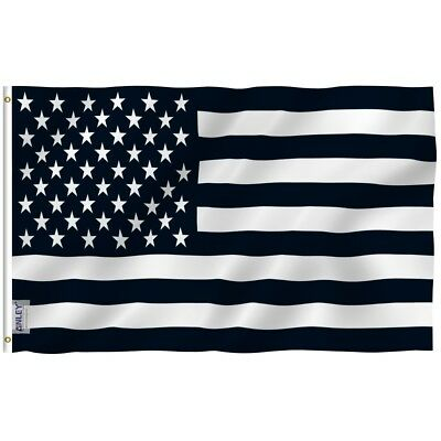 Anley Fly Breeze 3x5 Foot Black and White American Flag Recession USA Flags