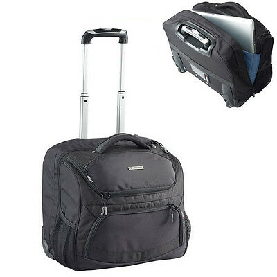 Caribee Mobile Office Travel Luggage Wheeled Bag - Black
