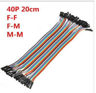 40pcs 20cm Jumper Wire Dupont Cable Dupont Line For Arduino F/F F/M M/M