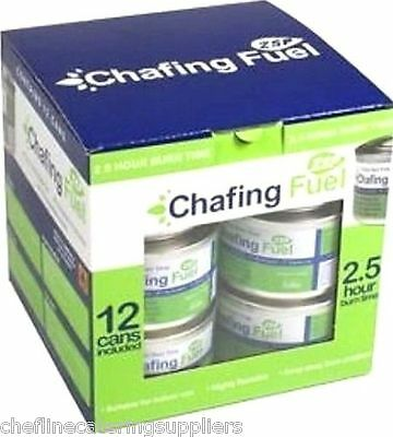 12x 2.5 Non Toxic Hour Chafing Fuel Gel Cans,Catering, Smokeless,Caterers Buffet