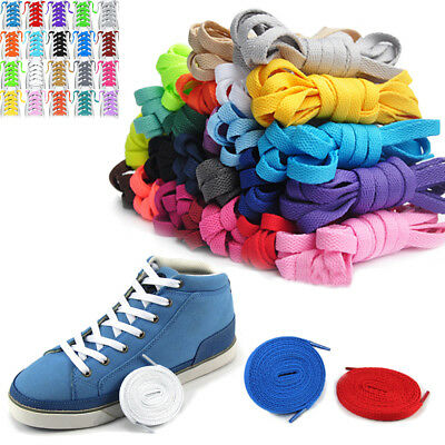 Flat Coloured Athletic Sneaker Shoe Laces strings Shoelaces Bootlaces- 6 LENGTHS