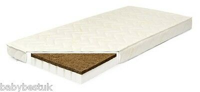 BABY MATTRESS - LATEX AND COCONUT COIR FIBRE - 120x60cm - Choice of 3 covers!