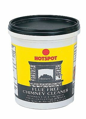 Hotspot Flue Free Chimney Cleaner Removes Tar & Creosote Deposits Fireplace 750g