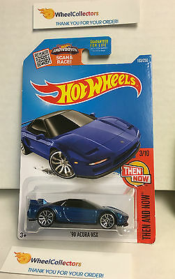 90 Acura Nsx 103 Dark Blue Hot Wheels 2016 Usa Card J33