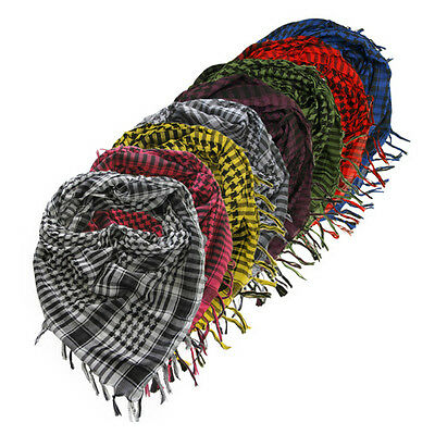 Houndstooth Checker Arab Arafat Shemagh Kafiyah Desert Style Square Scarf Throw