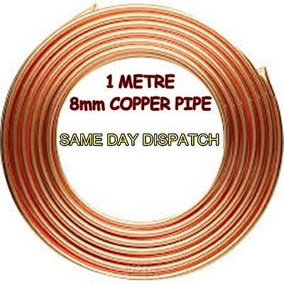 *1 METRE* 8mm Copper Pipe Microbore Gas-Water-Air-LPG *CHEAPEST ON EBAY*