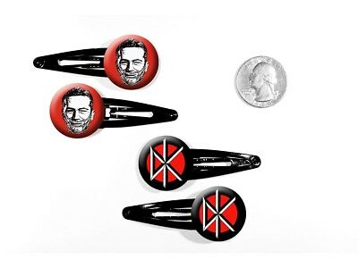 Dead Kennedys Hardcore Punk 'Holiday in Cambodia' Set of 4 Barrettes