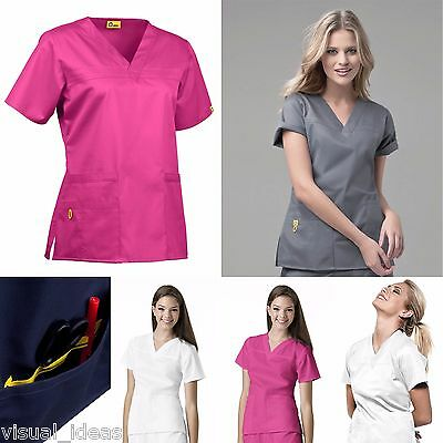 New Women's Wonderwink Mink Fashion V-Neck Top Nursing Uniform Xs-Xl #6103