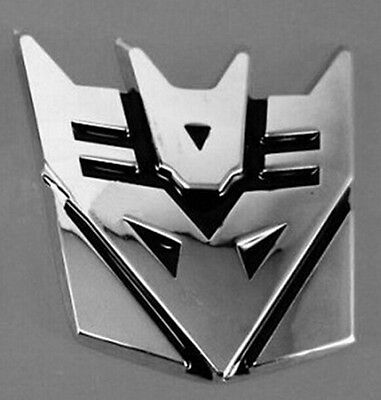 Transformers Emblem Badge 3D Logo Protector Graphic Decepticon Decal Car Sticker
