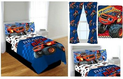 Kids Boys Blaze And The Monster Machine Bed In A Bag / Comforter Set - 3 Prints
