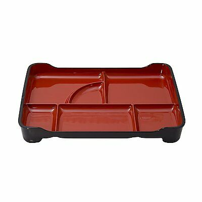 Japanese Plastic Lacquer Bento Box 6 Compartments