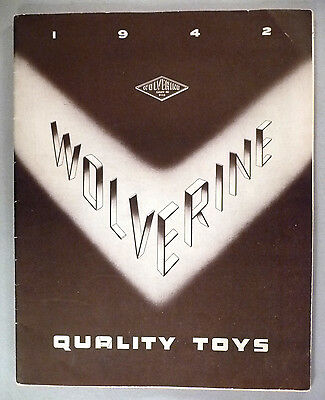 Wolverine Toy CATALOG - 1942 ~~ toys