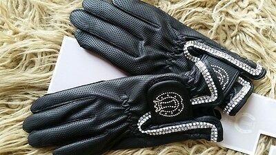Stunning Imperial Riding Black Riding Gloves Size Xs