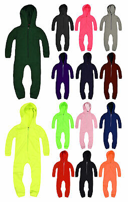 Kids Unisex Onsie New Boys Girls Childrens Hooded All In One Ages 3-13 Years