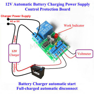 12V Battery Automatic Charger Charging Switch Controller Module Protection Board