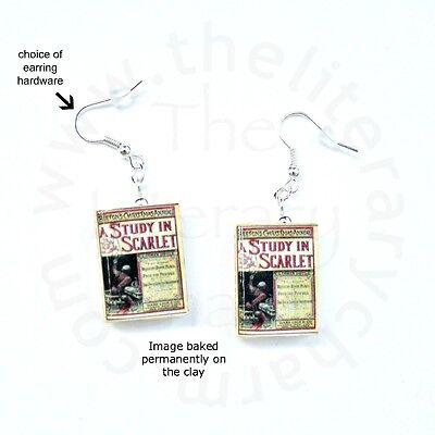SHERLOCK HOLMES Mini Book Earring PAIR Gifts for Book Lovers Teacher Graduates
