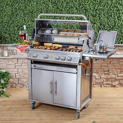Fire Mountain Premier Stainless Steel 4 Burner Gas Barbecue with Free Gas Regula