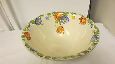 """1930's Harker Jewel Weed Columbia Chinaware Large 11 1/4"""" Mixing or Salad Bowl"""