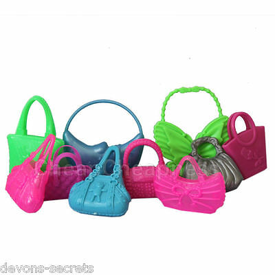 10 x  bundle girls toy doll BARBIE HANDBAG BAG new accessories outfits dresses