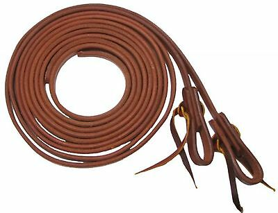 """AMERICAN MADE Showman Oiled Harness Leather Split Reins 1/2"""" X 8' HORSE TACK!"""