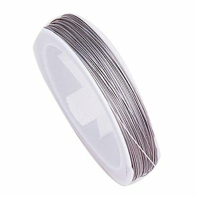 90M Flexible Silver Jewelry Cord Tiger Tail Beading Wire 0.45MM