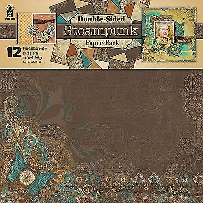 STEAMPUNK 12x12 Scrapbooking Paper Pack HOT OFF THE PRESS 4252 NEW