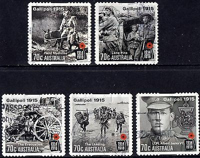 Australia 2015 Gallipoli Complete Set of Stamps P Used S/A