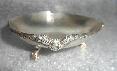 fine antique sterling silver footed bowl Egyptian hallmarks