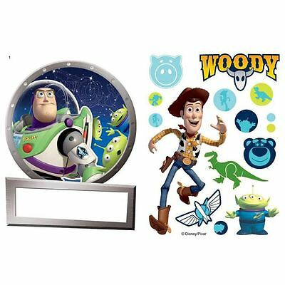Toy Story Name Plate & 18 Piece Wall Stickers Included Kids Bedroom Playroom New