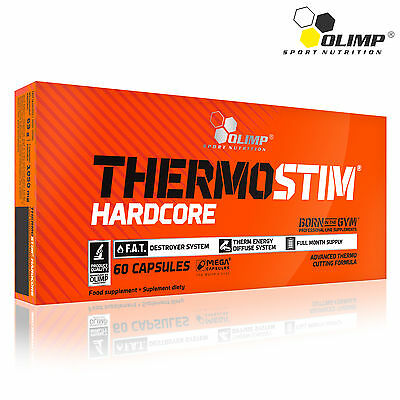 THERMOSTIM HARDCORE 30-210 Capsules Thermogenic Fat Burner Weight Loss Sinetrol