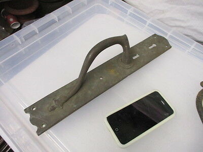 Antique Bronze Door Handle Shop Pull Architectural Art Nouveau Vintage Old Brass