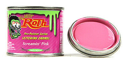 screamin pink daddy roth pinstriping paint enamel hot rod sign lettering