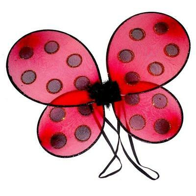 ** Ladybird Wings Red Glittery Childrens  Adult Fancy Dress New **  Lady Bug