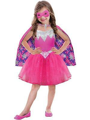 Barbie Power Princess Licensed Age 3-10 Girls Childs Kids Fancy Dress Costume