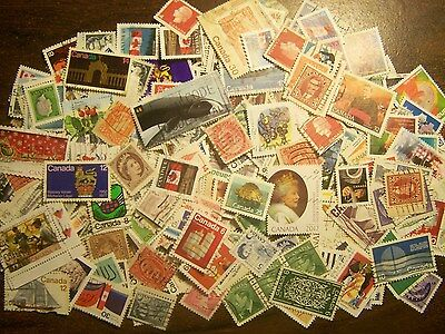 1,000 Canadian Stamps Mixture, Canada, 1890s - Now