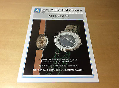 Press Release SVEND ANDERSEN - MUNDUS - FR DE ENG - Watch NOT Included